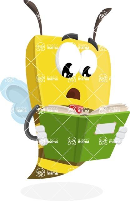 Bee Businessman Cartoon Vector Character AKA Lee the Business Bee - Book 1