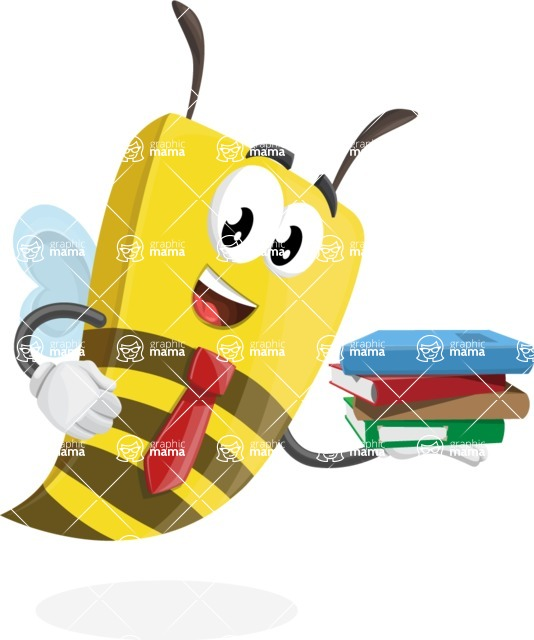 Bee Businessman Cartoon Vector Character AKA Lee the Business Bee - Book 2