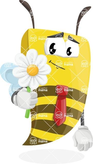 Bee Businessman Cartoon Vector Character AKA Lee the Business Bee - Book and iPad