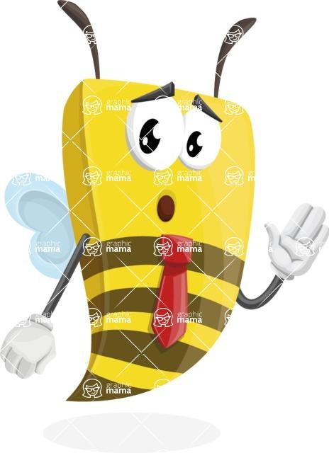 Bee Businessman Cartoon Vector Character AKA Lee the Business Bee - Bored