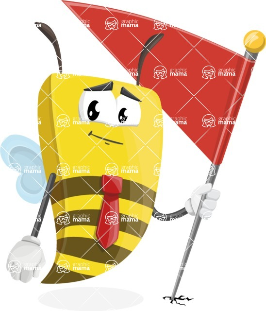 Bee Businessman Cartoon Vector Character AKA Lee the Business Bee - Checkpoint