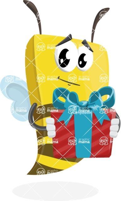 Bee Businessman Cartoon Vector Character AKA Lee the Business Bee - Gift