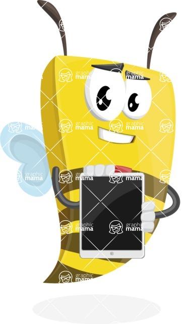 Bee Businessman Cartoon Vector Character AKA Lee the Business Bee - iPad 1