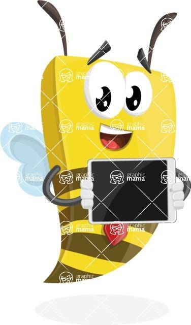 Bee Businessman Cartoon Vector Character AKA Lee the Business Bee - iPad 2