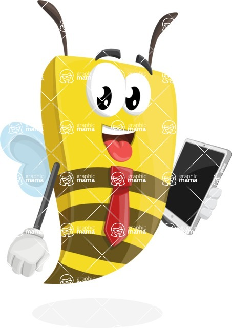 Bee Businessman Cartoon Vector Character AKA Lee the Business Bee - iPad3