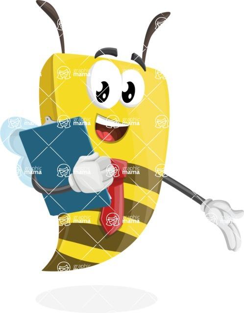 Bee Businessman Cartoon Vector Character AKA Lee the Business Bee - Notepad 2