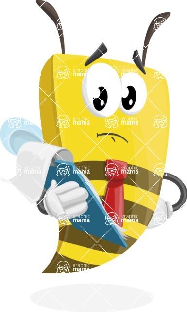 Bee Businessman Cartoon Vector Character AKA Lee the Business Bee - Notepad 3