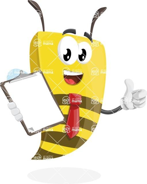 Bee Businessman Cartoon Vector Character AKA Lee the Business Bee - Notepad 4