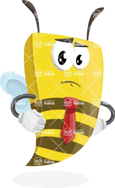 Bee Businessman Cartoon Vector Character AKA Lee the Business Bee - Patient