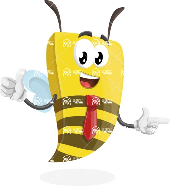 Bee Businessman Cartoon Vector Character AKA Lee the Business Bee - Point2