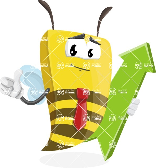 Bee Businessman Cartoon Vector Character AKA Lee the Business Bee - Pointer 1