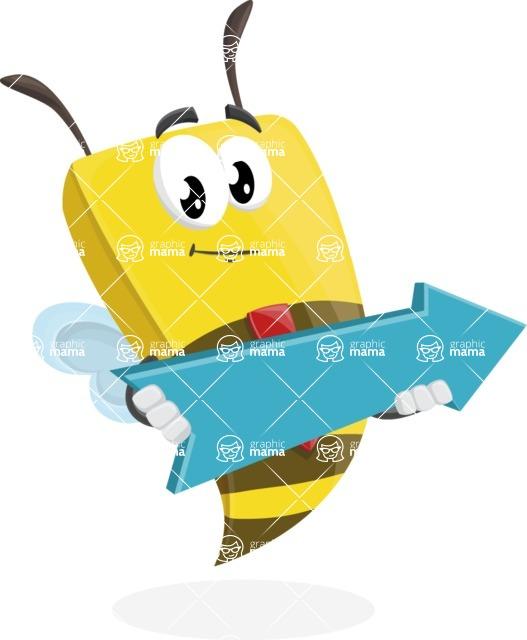Bee Businessman Cartoon Vector Character AKA Lee the Business Bee - Pointer 2