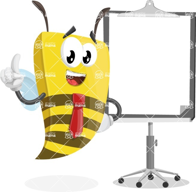 Bee Businessman Cartoon Vector Character AKA Lee the Business Bee - Presentation 1