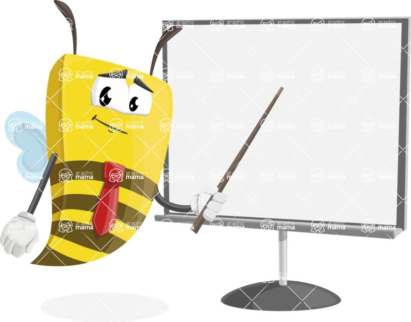 Bee Businessman Cartoon Vector Character AKA Lee the Business Bee - Presentation 2