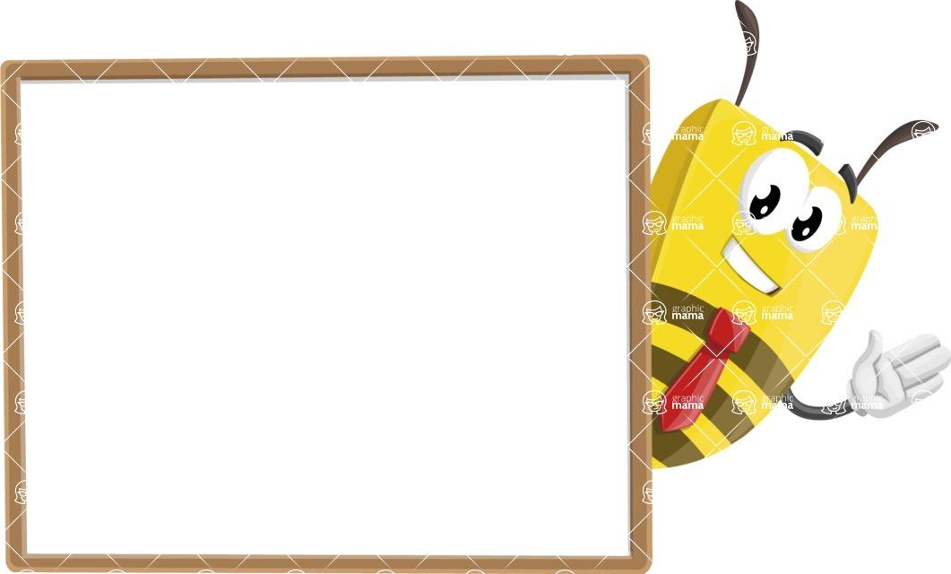 Bee Businessman Cartoon Vector Character AKA Lee the Business Bee - Presentation 5