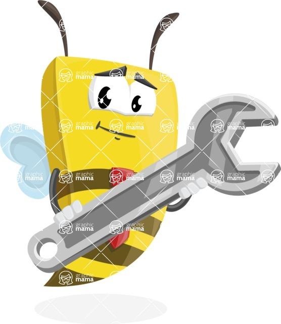 Bee Businessman Cartoon Vector Character AKA Lee the Business Bee - Repair