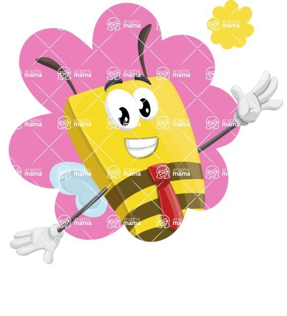 Bee Businessman Cartoon Vector Character AKA Lee the Business Bee - Shape 1