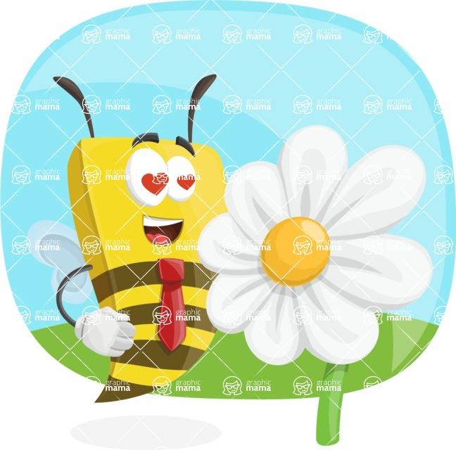 Bee Businessman Cartoon Vector Character AKA Lee the Business Bee - Shape 5
