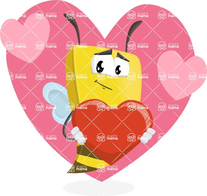Bee Businessman Cartoon Vector Character AKA Lee the Business Bee - Shape 6