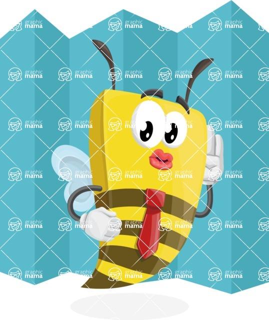 Bee Businessman Cartoon Vector Character AKA Lee the Business Bee - Shape 8