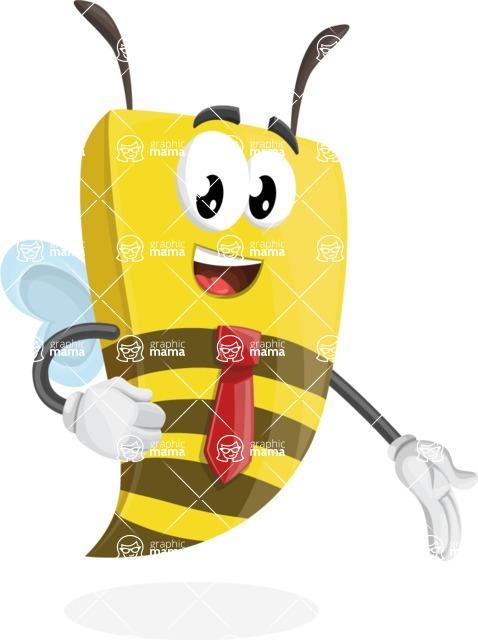Bee Businessman Cartoon Vector Character AKA Lee the Business Bee - Show