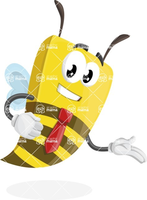 Bee Businessman Cartoon Vector Character AKA Lee the Business Bee - Show2