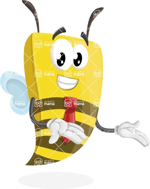 Bee Businessman Cartoon Vector Character AKA Lee the Business Bee - Showcase