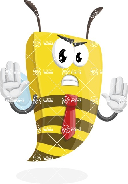 Bee Businessman Cartoon Vector Character AKA Lee the Business Bee - Stop 2