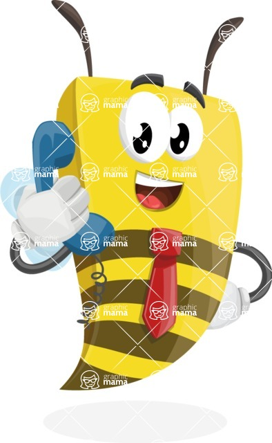 Bee Businessman Cartoon Vector Character AKA Lee the Business Bee - Support