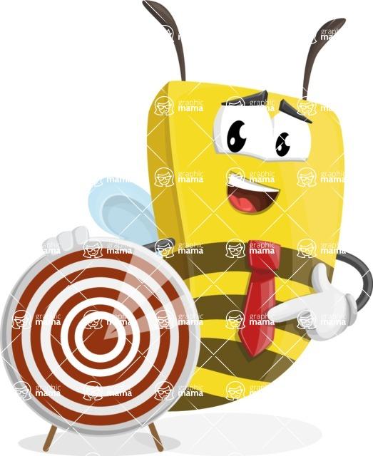 Bee Businessman Cartoon Vector Character AKA Lee the Business Bee - Target