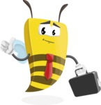 Bee Businessman Cartoon Vector Character AKA Lee the Business Bee - Brifcase 1