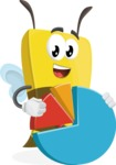 Bee Businessman Cartoon Vector Character AKA Lee the Business Bee - Chart