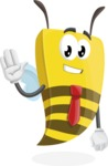 Bee Businessman Cartoon Vector Character AKA Lee the Business Bee - Hello