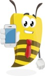 Bee Businessman Cartoon Vector Character AKA Lee the Business Bee - iPhone