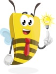 Bee Businessman Cartoon Vector Character AKA Lee the Business Bee - Light Switch