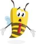 Bee Businessman Cartoon Vector Character AKA Lee the Business Bee - Lost