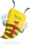 Bee Businessman Cartoon Vector Character AKA Lee the Business Bee - Making Face