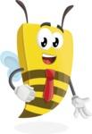 Bee Businessman Cartoon Vector Character AKA Lee the Business Bee - Normal