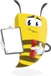 Bee Businessman Cartoon Vector Character AKA Lee the Business Bee - Notepad 1