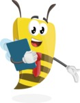 Bee Businessman Cartoon Vector Character AKA Lee the Business Bee - Notepad 2