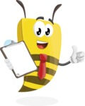 Bee Businessman Cartoon Vector Character AKA Lee the Business Bee - Notepad 4