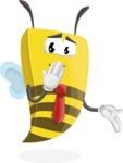 Bee Businessman Cartoon Vector Character AKA Lee the Business Bee - Oops