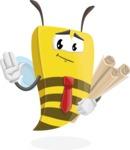Bee Businessman Cartoon Vector Character AKA Lee the Business Bee - Plans