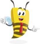 Bee Businessman Cartoon Vector Character AKA Lee the Business Bee - Point2