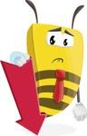 Bee Businessman Cartoon Vector Character AKA Lee the Business Bee - Pointer 3