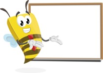 Bee Businessman Cartoon Vector Character AKA Lee the Business Bee - Presentation 3