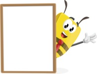 Bee Businessman Cartoon Vector Character AKA Lee the Business Bee - Presentation 4