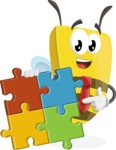 Bee Businessman Cartoon Vector Character AKA Lee the Business Bee - Puzzle