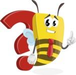 Bee Businessman Cartoon Vector Character AKA Lee the Business Bee - Question