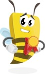 Bee Businessman Cartoon Vector Character AKA Lee the Business Bee - Ribbon